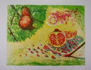 Stillleben mit Granatapfel